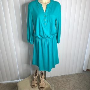 Lily Pulitzer Teal Beckett Jersey Dress